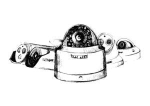 vaizdo stebejimo kameros